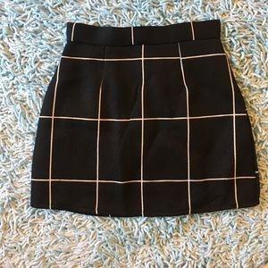 Dresses & Skirts - Windowpane Mini Skirt