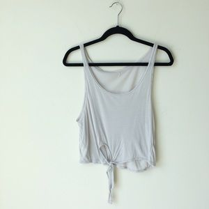 Brandy Melville Tops - RARE Brandy Melville Tie Front Beachy Tank Top