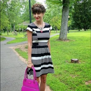 Dresses & Skirts - Black and White Striped Dress - Size Small