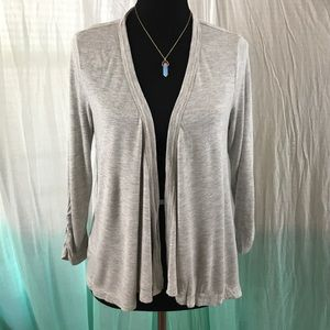3/$12 a.n.a. heather grey open-front cardigan