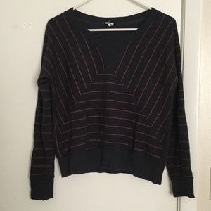 BDG navy blue and pink striped sweater