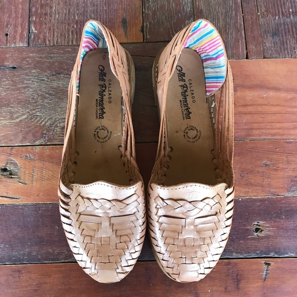 3530b53fcff9 Free People Shoes - Metallic Leather Mexican Huaraches Sandals Calzado