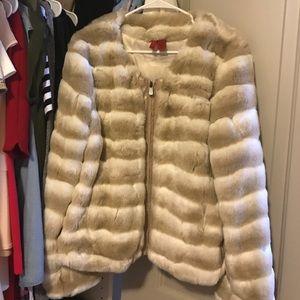 Jackets & Blazers - Faux Fur Jacket Size L