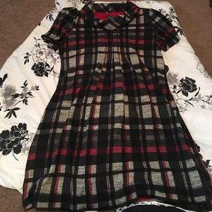JH Dresses & Skirts - Short sleeved red plaid dress