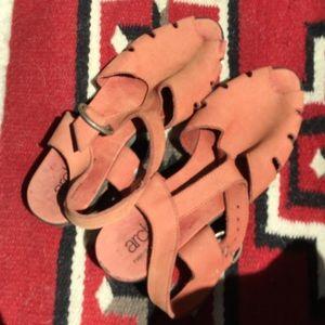 Arche Shoes - Arche peach suede sandals, 37, 7