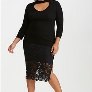 Torrid Stretch Lace Pencil Skirt