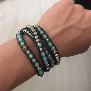 Jewelry - Blue and Silver Wrap Bracelet