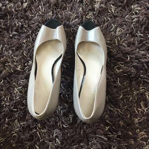 Nine West heels, open toe.