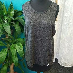 One Teaspoon gray sleeveless top pocket