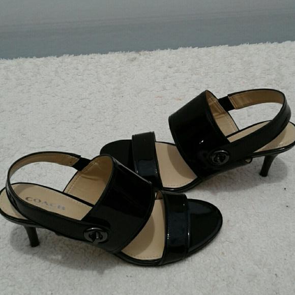 75 coach shoes coach black patent leather sandals