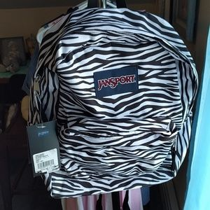 Jansport Bags - NWT Zebra Backpack