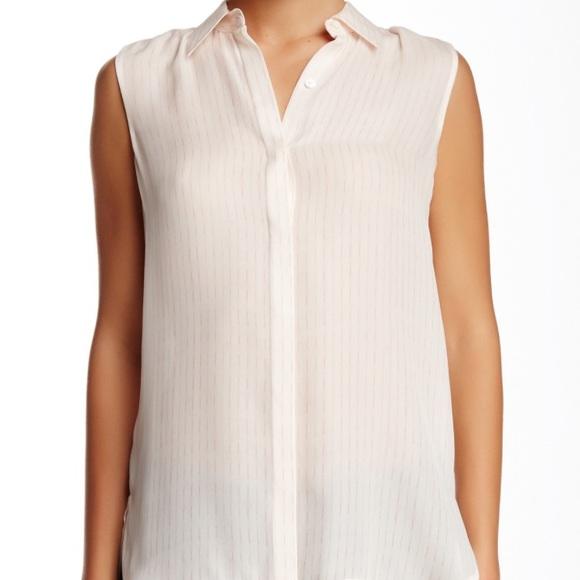 294c6c15ffc2c5 NWT Vince Blurred Line silk blouse FINAL CHANCE
