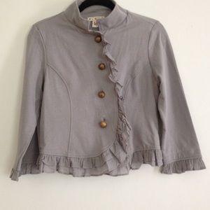 Jackets & Blazers - M grey jacket with ruffles