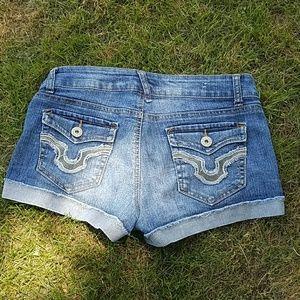 Wallflower Pants - Stretch Denim Shorts