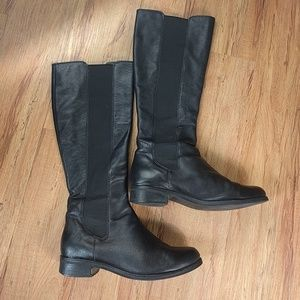 Cole Haan Nike Air Black Tall Leather Boots