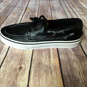 Vans Other - Vans -Unisex Leather Boat Shoes; 7.5 men/9 women's