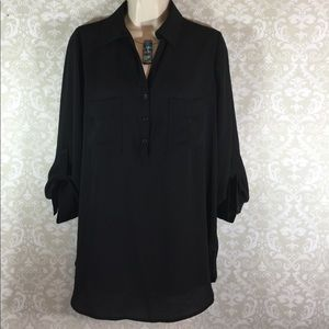 Tops - Loose Fitting Black Top - Size S