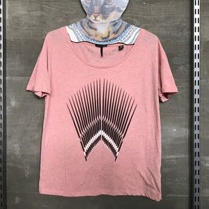 maison scotch Tops - Maison Scotch • pink graphic tee