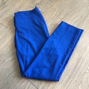 Amanda & Chelsea Pants - Cobalt blue skinny work slacks