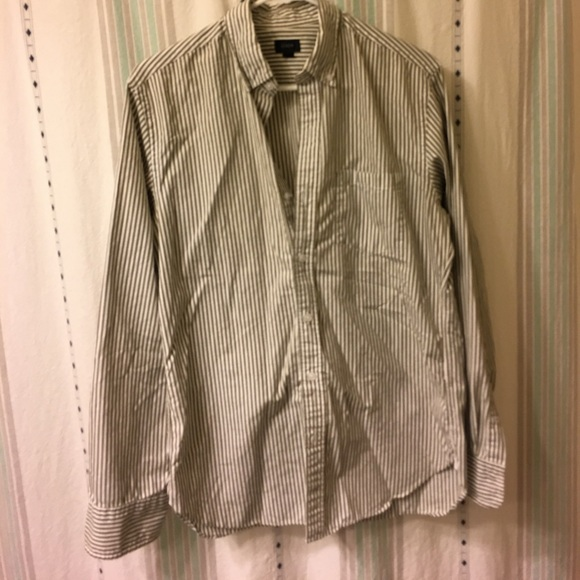 76 off j crew other olive striped pinpoint oxford by for Olive green oxford shirt