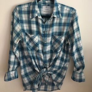 American Colors Tops - American Colors Pima Cotton Plaid Button Up