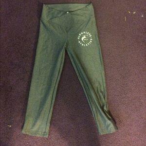 Alphalete heathered gray crop leggings