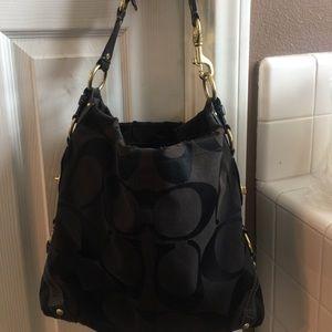 Coach black bag. Super cute with gold hardware