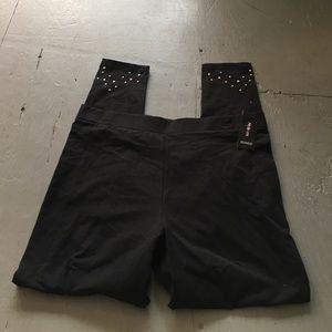 Black decorative leggings