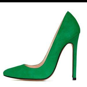 LAUREN MARINIS Shoes - Lauren Marinis Gilda Spring Green Suede Sz40 8.5/9