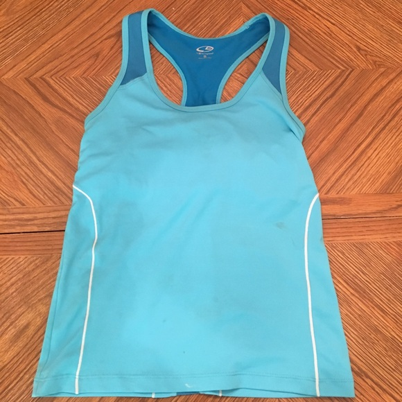 63 off champion tops sports tank top with built in bra for Shirts with built in sports bra