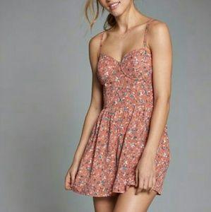 Abercrombie & Fitch | Peach Floral Corset Romper M