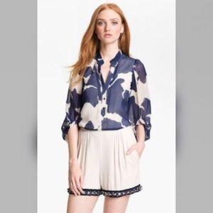 Diane von Furstenberg 2 Syrah silk blouse