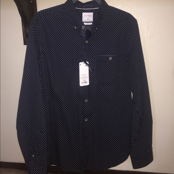Cactus Man Shirts Slim Fit Long Sleeve Button Up Mens L Poshmark