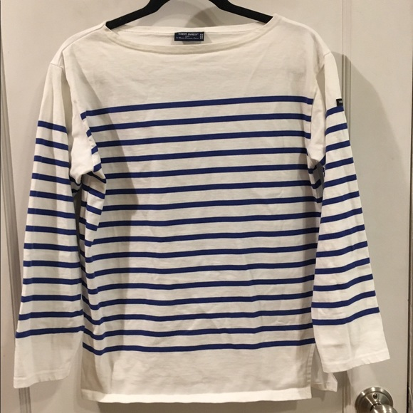 56 off saint james tops saint james blue stripe 3 4 for St james striped shirt