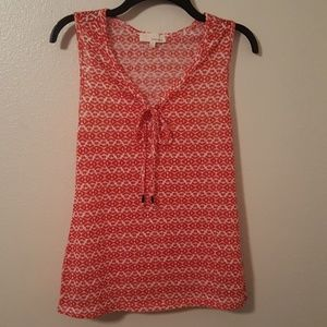 Dept 22 Tops - Aztec Print Tank Top with Ties at the neckline NWT