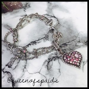 Brighton Jewelry - Brighton Breast Cancer Heart Bracelet