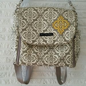 Petunia Pickle Bottom Handbags - Petunia Pickle Bottom Diaper Bags Gray and Yellow