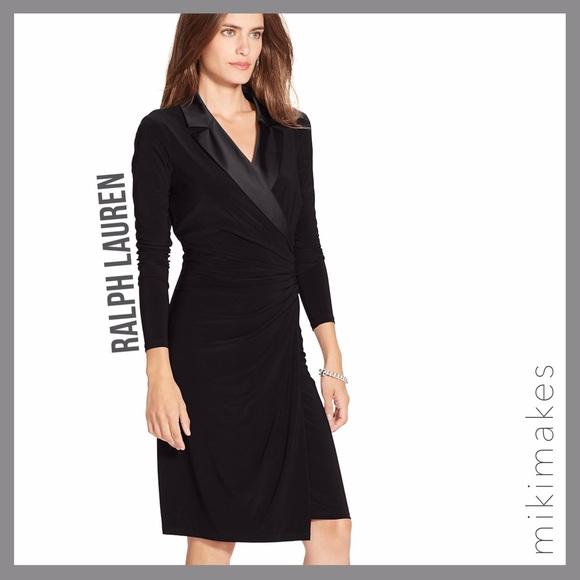 on sale high quality arrives Lauren Ralph Lauren Dresses   Ralph Lauren Black Tuxedo Wrap Dress ...