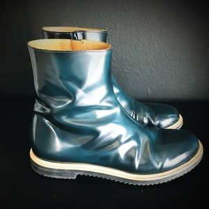 Maison Martin Margiela Shoes - Maison Margiela MM6 teal ankle boots
