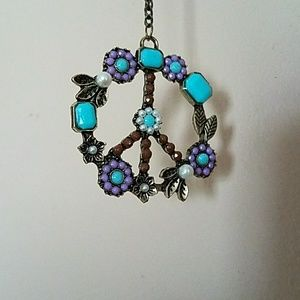 Long peace necklace