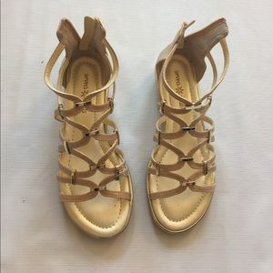 Seven Dials Shoes - Brand New Gold Gladiator Sandals