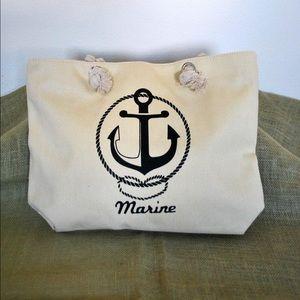 Handbags - :: SOLD :: NEW Anchor Marine Logo Canvas Tote
