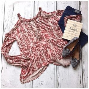 NWT Free People Good Morning cold-shoulder top