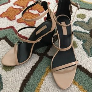 Forever 21 Nude Patent Wedges