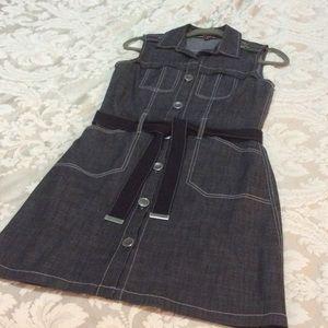 brooklyn industries Dresses & Skirts - 🚨 Brooklyn Industries belted denim dress