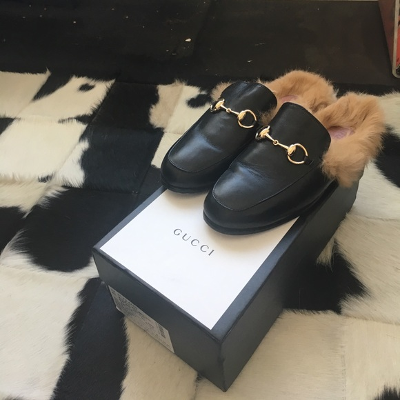 133721b4d38 Gucci Shoes - Gucci Princetown Fur Slipper Black