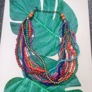 Jewelry - Colorful Beaded Multi-strand Fashion Necklace
