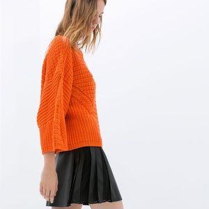 Zara Dresses & Skirts - Zara Faux Leather Pleated Skirt S