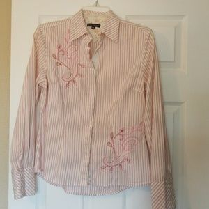Tucker Tops - Adorable shirt with embroidered detail