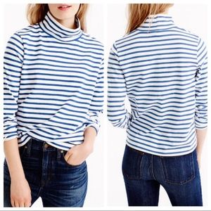 J.crew Sailor-stripe funnelneck T-shirt, NWT